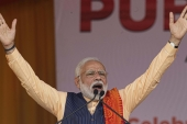 Indian Prime minister Narendra Modi has been criticised by the opposition for how he has handled the escalation with China [File: AP/Anupam Nath]