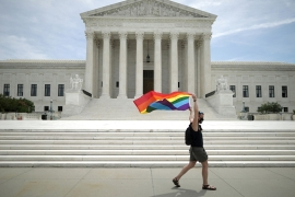 A 1960s-era ban on sex discrimination in the workplace was extended to millions of LGBT workers with the US Supreme Court's 6-3 decision on Monday - the most significant LGBT ruling since same-sex marriage was legalised in 2015 [File: Bloomberg]