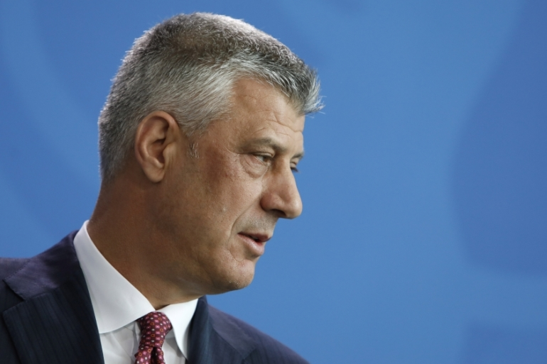President Hashim Thaci commanded the Kosovo Liberation Army (KLA) during the war [File: Michele Tantussi/Getty Images]
