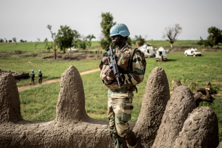 The UN mission in Mali has struggled to respond to the growing security crisis in the country's central regions [Marco Longari/AFP]