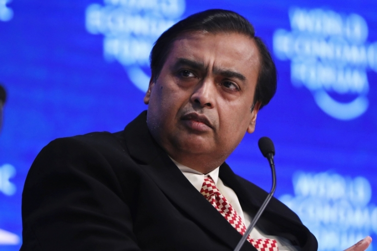 Indian's richest man, Mukesh Ambani, has identified technology and retail as future growth areas in a pivot away from the energy businesses he inherited from his father, who died in 2002 [File: Bloomberg]