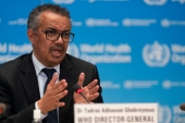 Tedros Adhanom Ghebreyesus, Director-General of the World Health Organization, has endorsed waiving intellectual property rights for the duration of the coronavirus pandemic [File: Christopher Black/WHO/Handout via Reuters]