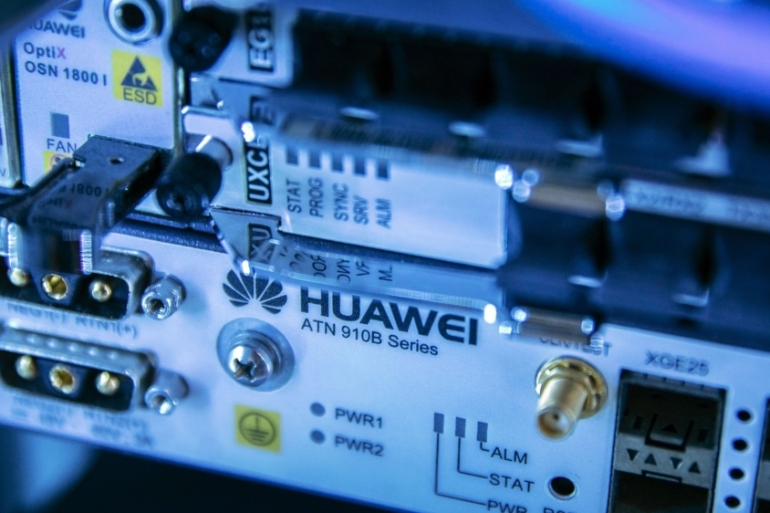 China's Huawei, one of the world's largest telecommunications equipment makers, says the UK parliamentary committee's statement is 'built on opinion rather than fact' [File: Qilai Shen/Bloomberg]
