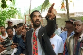 Emmanuel 'Toto' Constant in 2000 was convicted in absentia in Haiti following a trial for the 1994 massacre in Raboteau, a shantytown in the northern coastal town of Gonaives [File:John McConnico/AP]