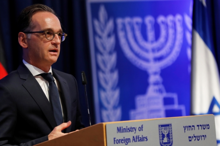Maas said Germany and the European Union 'seek dialogue' with Israel [Ronen Zvulun/Reuters]