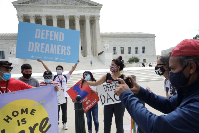 The US House approved a bill offering legal status to around two million Dreamers, undocumented immigrants brought to the US as children [Chip Somodevilla/Getty Images/AFP]