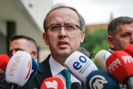 Avdullah Hoti, of the Democratic League of Kosovo, has been elected the new prime minister of Kosovo [Visar Kryeziu/The Associated Press]