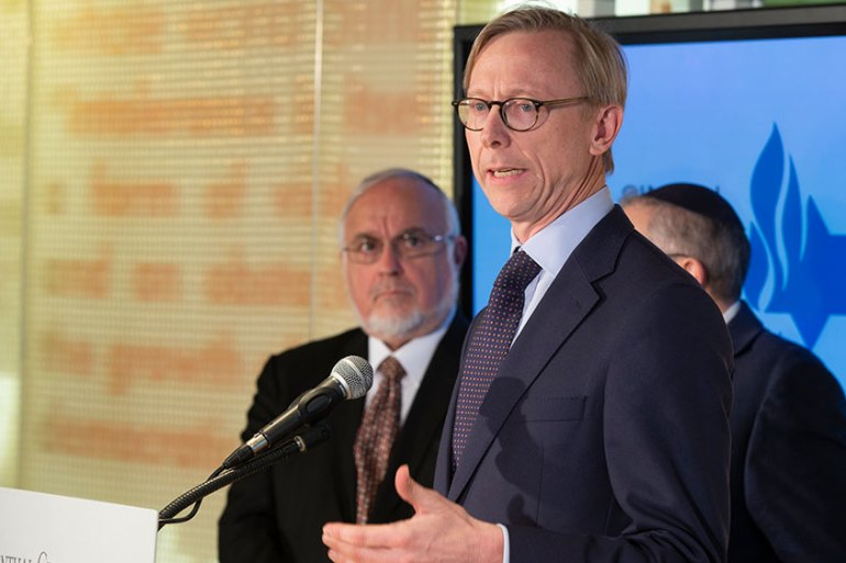 Brian Hook, 52, was appointed to the top Iran role at the State Department in late 2018 [File: Damian Dovarganes/AP Photo]