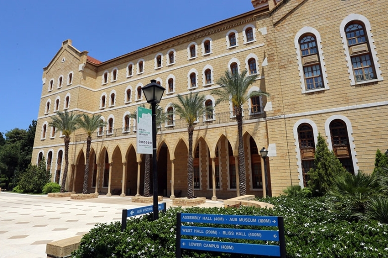 American University of Beirut, one of the Arab world's oldest universities, faces its worst crisis since its foundation with massive losses, staff cuts and an uphill battle to stay afloat [File: Aziz Taher/Reuters]
