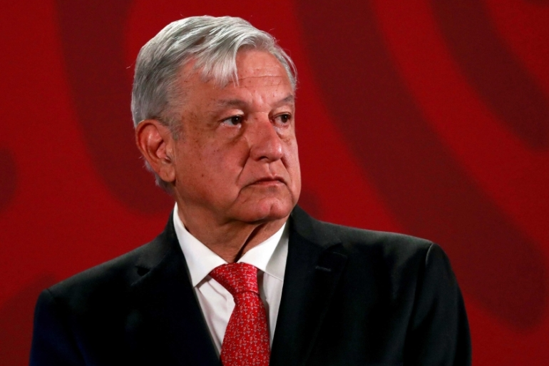 Mexico's President Andres Manuel Lopez Obrador has come under growing scrutiny over his security policy as homicides reach record levels [File: Henry Romero/Reuters]