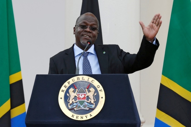 Tanzania's President John Magufuli has been accused of narrowing freedoms, increasing authoritarianism and seeking to cover up his country's coronavirus epidemic [File: Reuters]