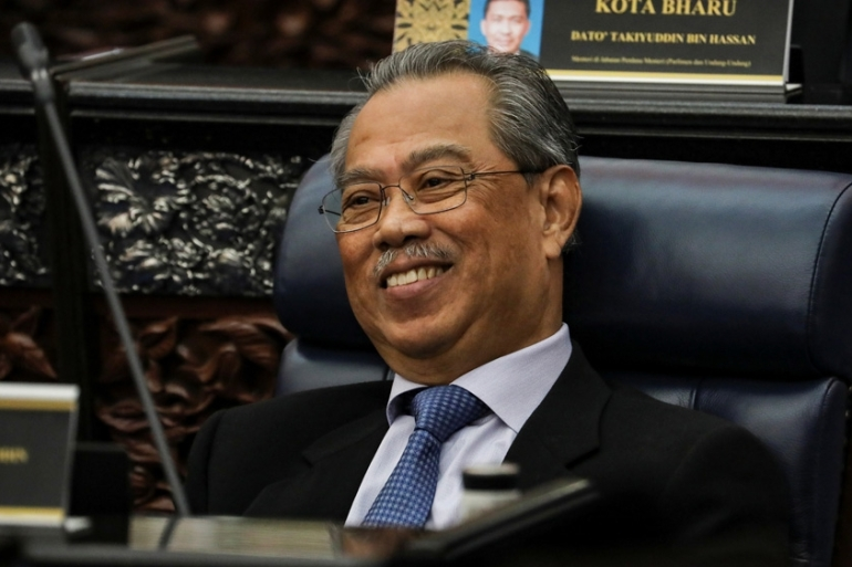 Malaysia's Prime Minister Muhyiddin Yassin won a vote to remove the speaker by the slimmest of margins on Monday in the first real test of his parliamentary majority [Lim Huey Teng/Reuters]