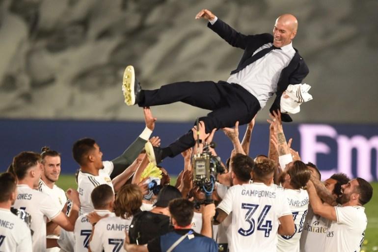 Zidane steers Real Madrid to record 34th Spanish league title | Football News | Al Jazeera
