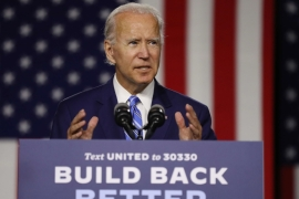 Democratic presidential candidate former Vice President Joe Biden speaks at the Chase Center July 14, 2020 in Wilmington, Delaware. [Chip Somodevilla/Getty Images/AFP]