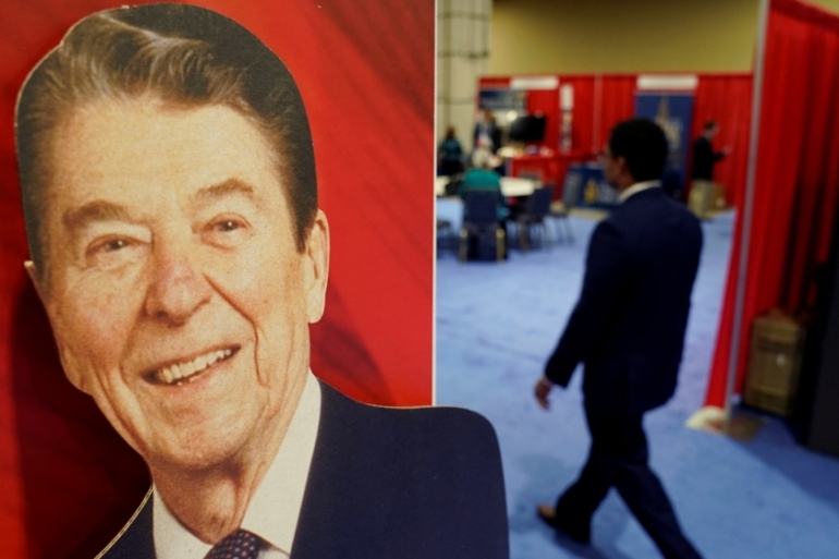 The Ronald Reagan foundation has asked Trump and the RNC to not use Reagan's name and likeness for fundraising [File: Kevin Lamarque/Reuters]