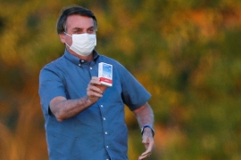 Brazil's President Jair Bolsonaro has continued to tout hydroxychloroquine as a treatment for the new coronavirus [Adriano Machado/Reuters]