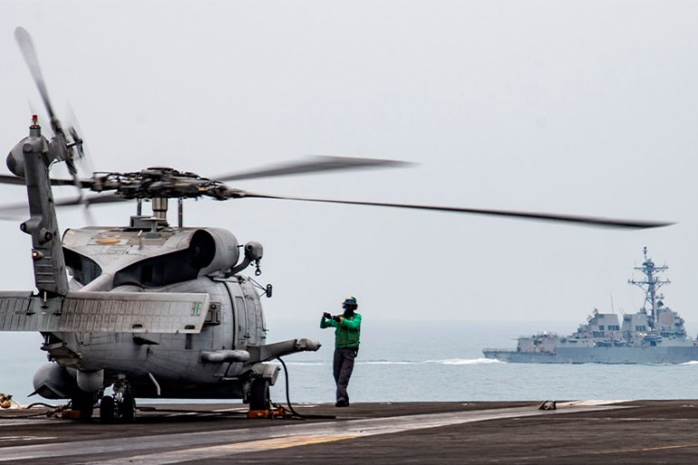 China has accused the US of 'creating chaos' in the Asia Pacific [File: Mass Communication Specialist 3rd Class Erica Bechard/US Navy via AP Photo]