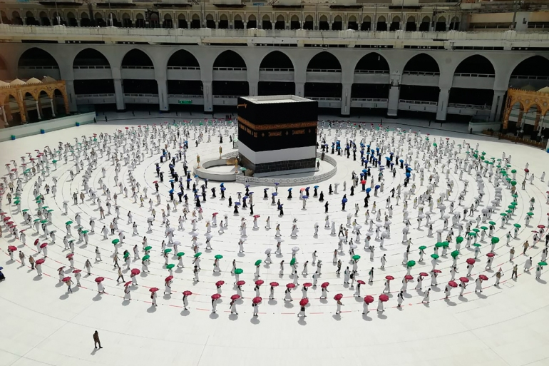 Umrah is an Islamic pilgrimage to Mecca and Medina undertaken any time of the year, attracting 19 million people last year [File: AP]