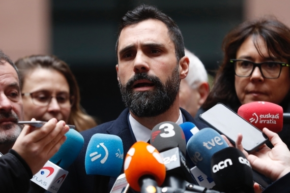 Roger Torrent, speaker of Catalonia's regional parliament, is one of the claimants [File: Jean-Francois Badias/AP]