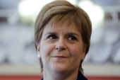 Unlike British Prime Minister Boris Johnson, Scottish First Minister Sturgeon has appeared calm and composed throughout the pandemic, writes Maxwell [AP Photo/Markus Schreiber]