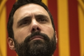 The phone of Catalan parliament's president Roger Torrent was targeted using spyware its makers say is only sold to governments to track criminals and 'terrorists'. [AP Photo/Manu Fernandez]