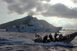Japan's criticism of Chinese activities near disputed East China Sea islets echoes similar comments made by the United States, and comes as tension in the region increases [File: Emily Wang/AP]