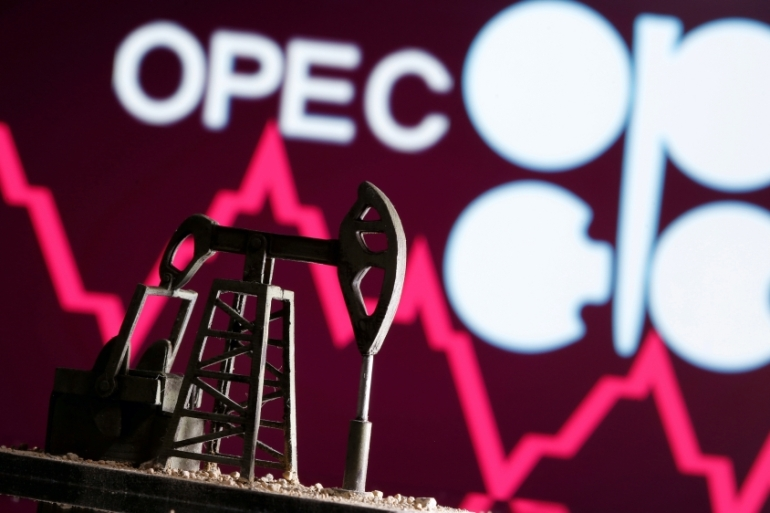 The UAE says the OPEC+ proposal to extend production agreement for the entirety of 2022 without raising its production quota is 'unfair' [File: Dado Ruvic/Illustration via Reuters]