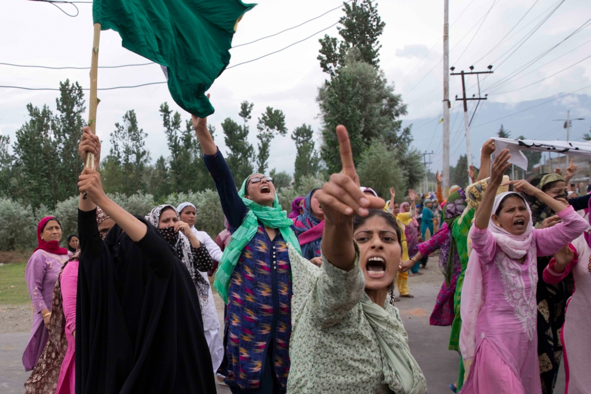 The predominantly Muslim area has been under an unprecedented lockdown and near-total communications blackout to prevent unrest and protests after India's Hindu nationalist government revoked Kashmir's special constitutional status. [Dar Yasin/AP Photo]