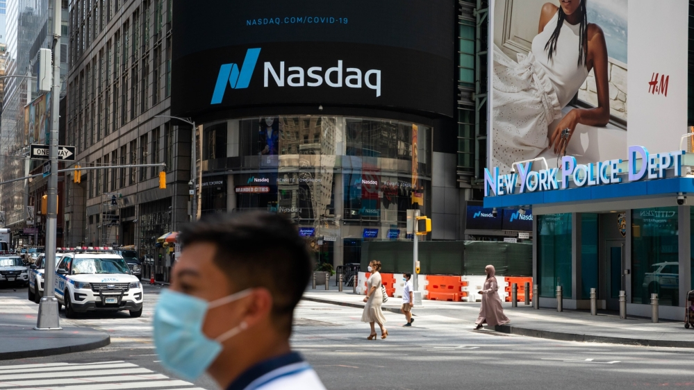 Nasdaq is jumping mostly since April, Bitcoin is going up above $ 54,000 |  Financial Markets News