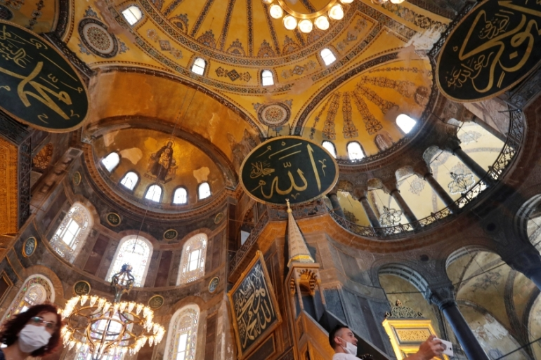 Hagia Sophia has been an attraction for tourists worldwide and visited by millions of people every year [Murad Sezer/Reuters]