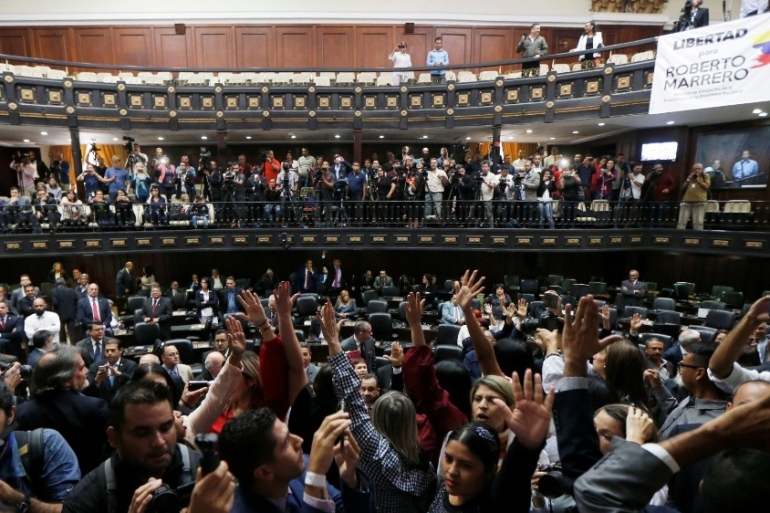 The legislature currently has 167 legislators, the increase to 277 will go into effect with the next parliament [File: Manaure Quintero/Reuters]