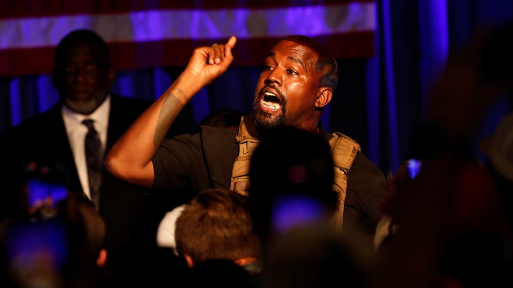 Kanye West launches US presidential campaign with emotional rally | US Elections 2020 News | Al Jazeera