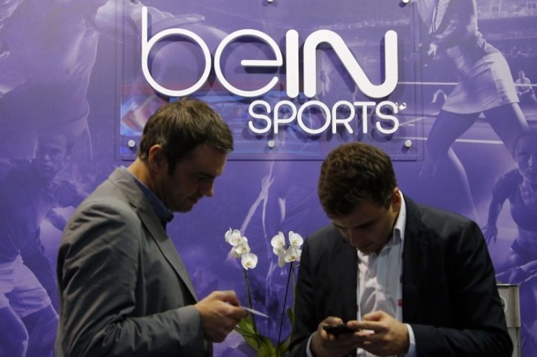 BeIn Sports holds exclusive rights to broadcast international tournaments to the Middle East, North Africa and Europe [Eric Gaillard/Reuters]