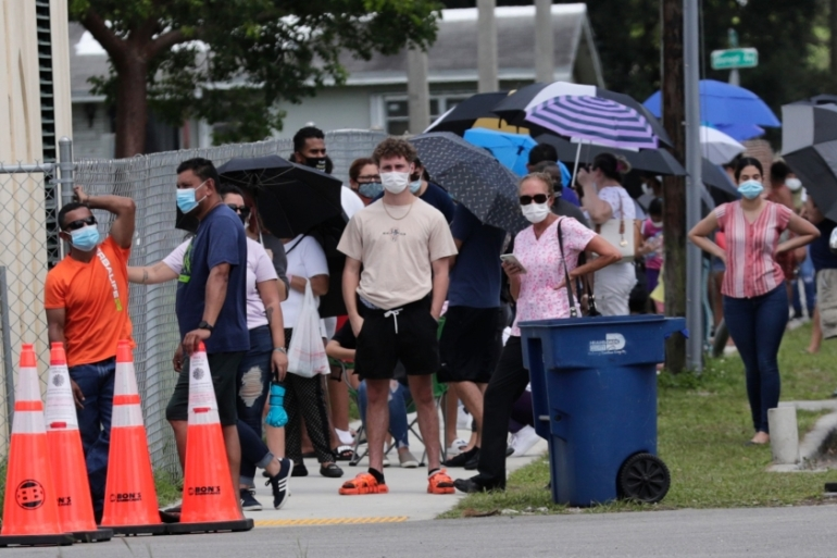 Florida has emerged as the epicentre of the outbreak in the United States [Lynne Sladky/The Associated Press]