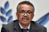 WHO Director-General Tedros Adhanom Ghebreyesus says 'we can't beat COVID without vaccine equity' [File: Fabrice Coffrini/Pool via Reuters]