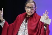 Ruth Bader Ginsburg's death on September 18 left a vacancy on the Supreme Court, generating controversy over the appointment of a successor shortly before a presidential election [AP Photo/Jessica Hill]