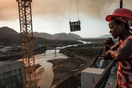 GERD has been a source of tension in the Nile River basin ever since Ethiopia broke ground on it in 2011, with downstream countries Egypt and Sudan worried it will restrict vital water supplies [File: Eduardo Soteras/AFP]