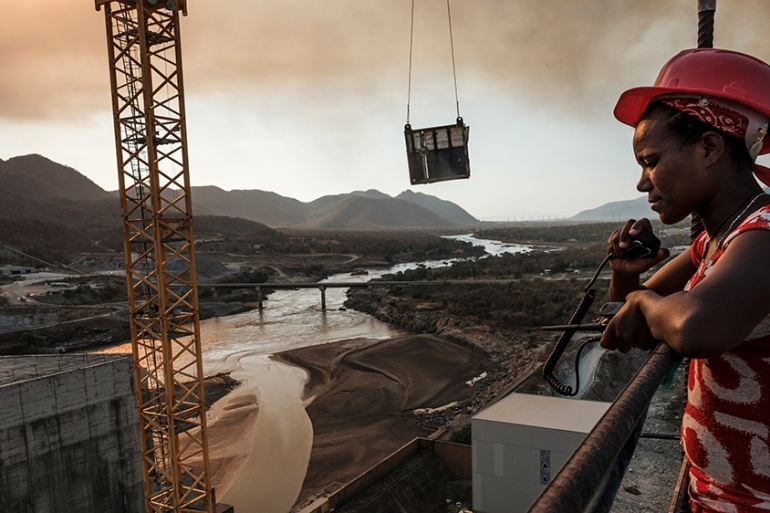 Egypt and Sudan want a legally binding agreement on the dam's filling and operation, while Ethiopia insists on guidelines [Eduardo Soteras/AFP]