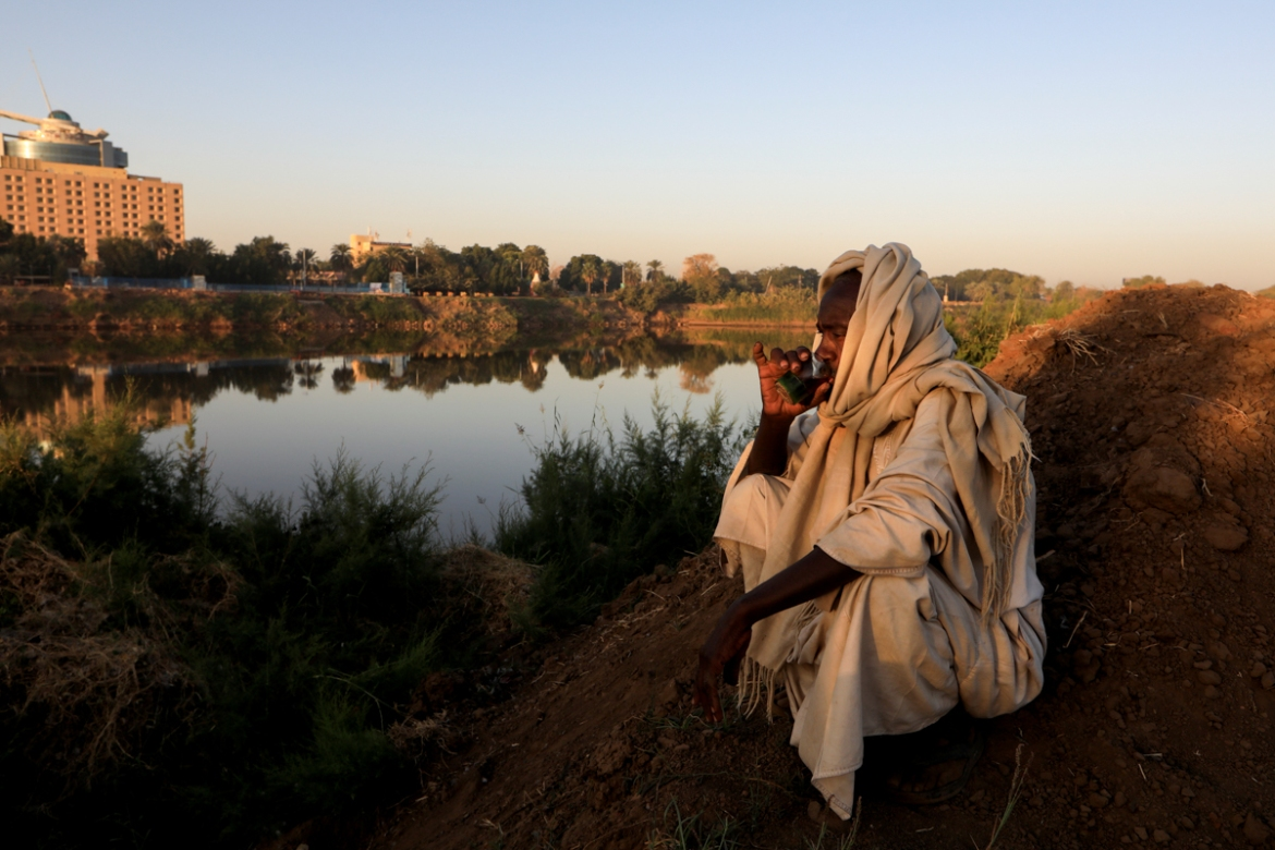 'I consider the Nile to be something that I have never parted with, ever since I was born,' al-Ameen, 55, said. 'I eat from it, I farm with it. I also extract these bricks from it? My whole source of income is from the Nile.' [Zohra Bensemra/Reuters]