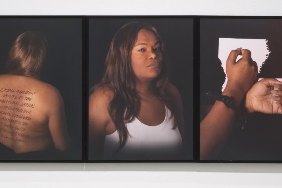 Photos of Wendi Cooper from (Per)Sister, an exhibition by Newcomb Art Museum that brings together the stories of current and formerly incarcerated women in Louisiana [Photo courtesy of Wendi Cooper]