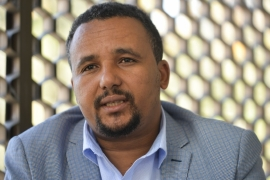 Jawar Mohammed has been on hunger strike since January 27 and has developed unspecified kidney problems, according to his lawyer [File: Michael Tewelde/AFP]