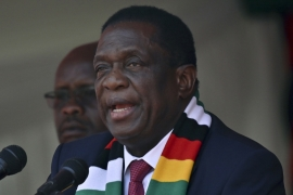 Mnangagwa railed against 'rogue Zimbabweans acting in league with foreign detractors' after state security forces thwarted anti-government protests [Tony Karumba/AFP]