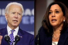 Democratic presidential candidate Joe Biden has selected Senator Kamala Harris, a former top prosecutor in California, to be his vice presidential running mate [Reuters]