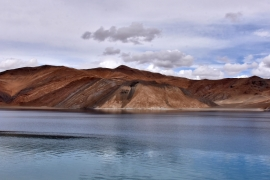 A view of Pangong Tso lake in the Himalayan region of Ladakh [File: Mukesh Gupta/Reuters]
