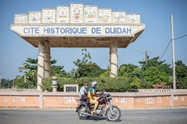 Ouidah, about 40 kilometres (25 miles) from Benin's economic hub of Cotonou, was one of the main slave staging posts to the Americas. [Yanick Folly/AFP]