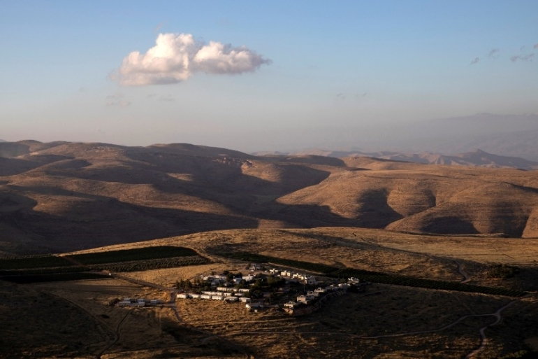 A general view of houses in the Jewish settler outpost of Mitzpe Kramim in the Israeli-occupied West Bank [File: Ronen Zvulun/Reuters]