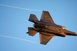 In the Middle East, only Israel now flies the stealth F-35 fighter jet [Amir Cohen/Reuters]