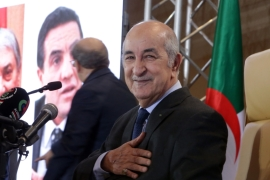 Elected last December, Tebboune, pictured here, has pledged reforms and to meet demands raised in protests last year that toppled Bouteflika's government [File: Anadolu]