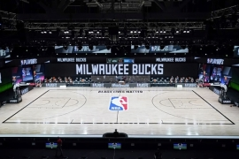 The Milwaukee Bucks did not take the court for game five of their play-off series against the Orlando Magic [Ashley Landis/Pool via USA TODAY Sports/Reuters]