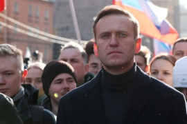 Russian opposition politician Alexey Navalny takes part in a rally in Moscow, Russia February 29, 2020 [REUTERS/Shamil Zhumatov]